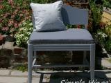Petite Grey Bench