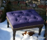 Navy Footstool