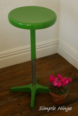 Vintage Metal Lab Stool
