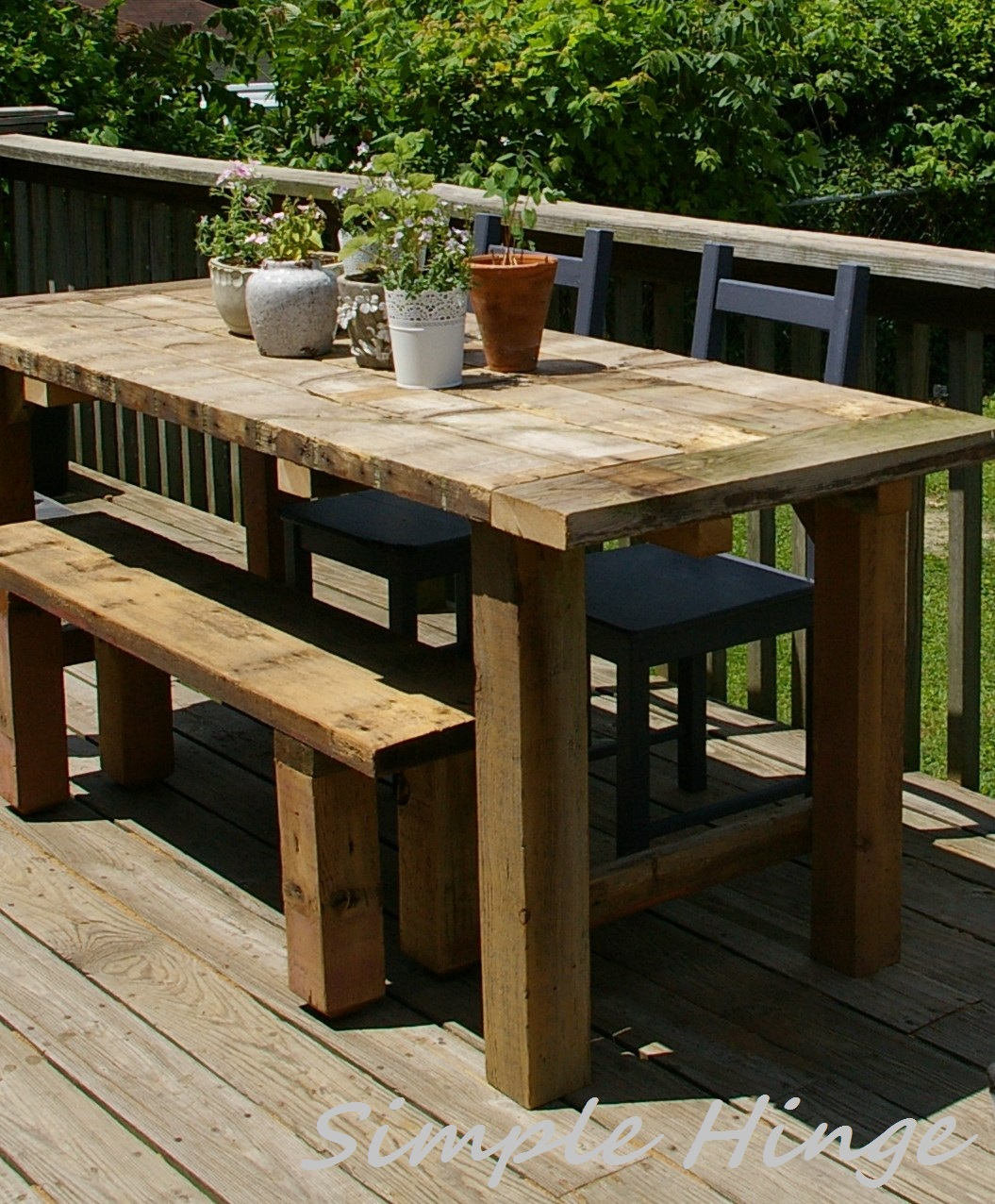 Simple Farmhouse Table House Design And Decorating Ideas