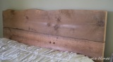 Salvaged Wood Headboard and Footboard