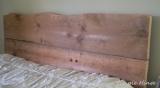 Salvaged Wood Headboard andFootboard