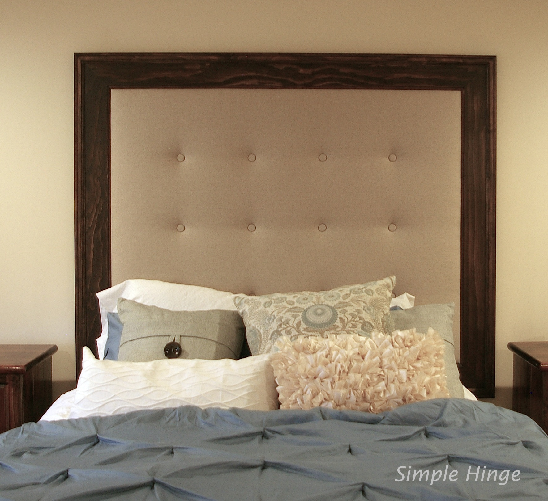 upholstered gallery custom client headboard winged made from headboards category mclaughlin portfolio and beds