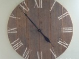Clock and Farmhouse Shutters