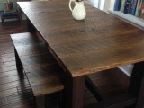Custom Oak Farmhouse Table