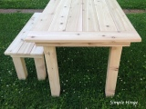 Outdoor Cedar Table and Bench