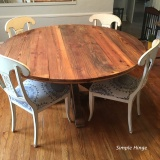 60″ Round Barn Wood Table